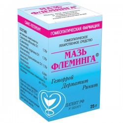 Мазь Флеминга по цене от 299,00 рублей, купить в аптеках Тольятти, мазь 25 г №1 Не указано (Мазь Флеминга)
