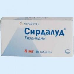 Сирдалуд по цене от 288,00 рублей, купить в аптеках Тольятти, табл. 4 мг №30 Тизанидин